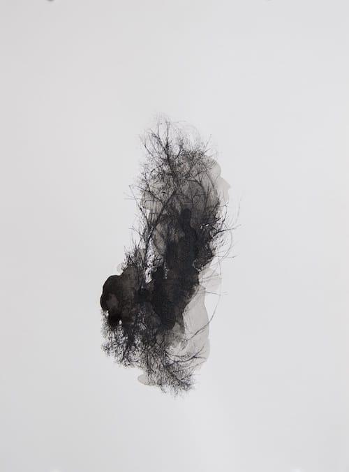 Gaëlle Chotard, Sans titre, 2017, 23x31 cm, encre de chine sur papier, © Gaëlle Chotard, Galerie Papillon