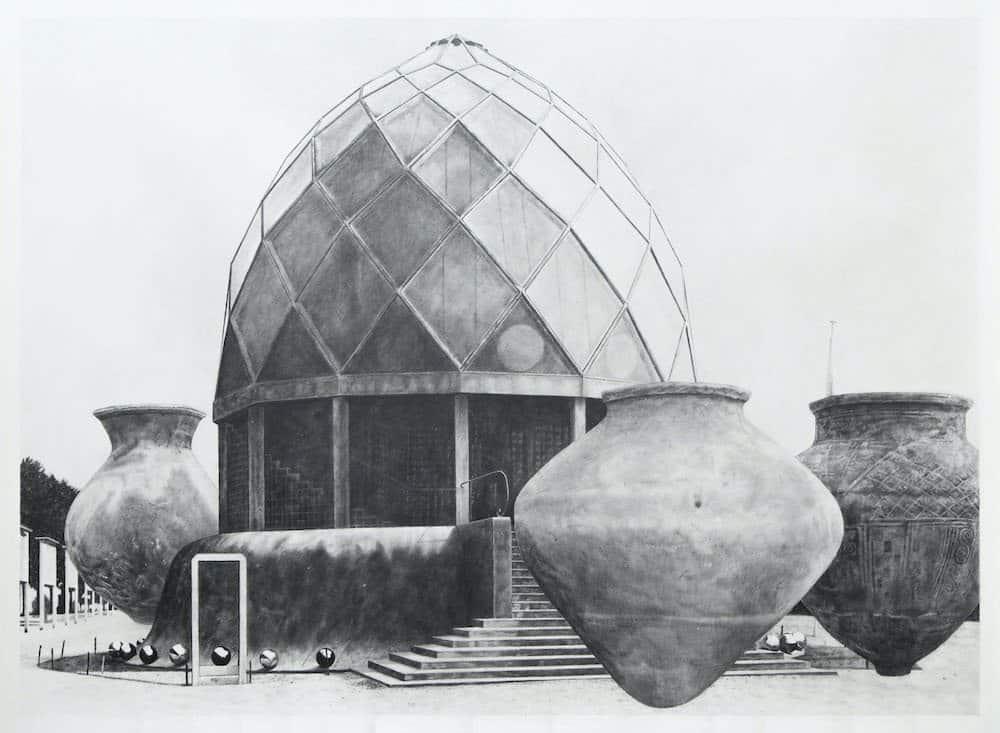 Daniel Otero Torres, Observatorio, 2017, Crayon sur papier, 154,5 x 114,5 cm