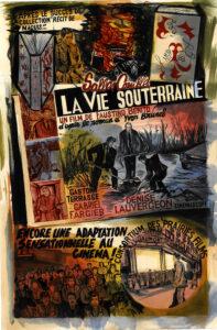 Camille Lavaud, La vie souterraine réclame, 2020,  120 cm x 80 cm,  encres acryliques sur papier