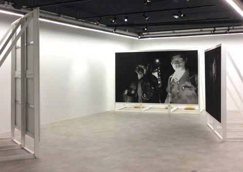 Vue de l'exposition Free, Valentin van der Meulen, 2018, Production Drawing Lab Paris