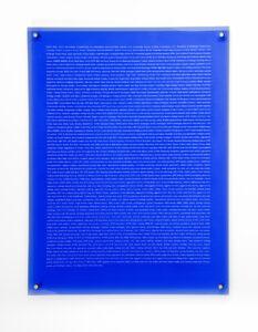 Naomi Cook, Market Findings, 2017, plexiglass, 62 x 81 x 0.5 cm