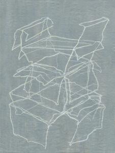 Brigitte Mahlknecht, Fast Architektur, 2017, crayon on primed paper, 55,8 x 42 cm
