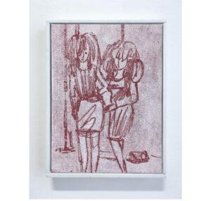 Antoine Marquis, Cold wave, 2020, 18 x 24 cm, pastel sur toile