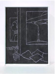 Antoine Marquis, La montagne sacrée 6, 2020, 18x24cm, pastel sur toile