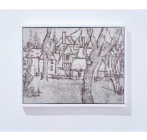 Antoine Marquis, Le hameau de la reine, 2020, 18x24cm, pastel sur toile