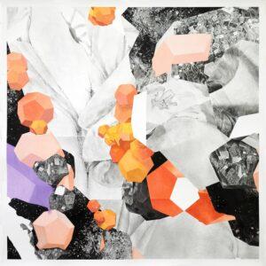 Thomas Leon, A Crystal World 03, 2020, Fusain et pastel sec sur papier, 120 x 120 cm ©Thomas LEON