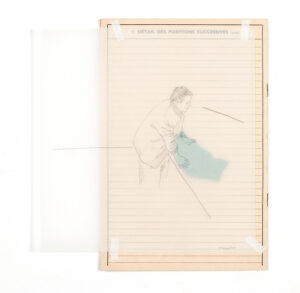 Massinissa Selmani, Détail des positions successives, 2019, technique mixte, 24 x 22,3 cm, Courtesy Galerie Anne-Sarah Bénichou (Paris), © ADAGP Paris.