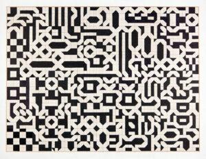 Claire Maugeais, A2 n°2, 2015, 50 x 65 cm, feutre noir sur papier millimétré
