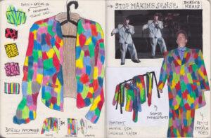Benjamin Hochart, Carnet, 2020, collage, feutre et crayon de couleur sur papier, 25 x 28 cm
