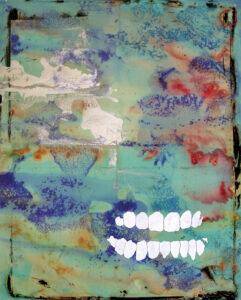 Benjamin Hochart, Jack, de la série Ton portrait, 2017, lavis d'encre, peinture à l'huile, gouache et collage sur papier, 100×87 cm
