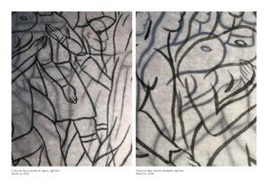 Pooya Abbasian, encre sur deux couches de papier, light box, 20 x 25 cm, 2019