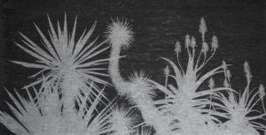 Fabrice Cazenave, Antipolis, fusain sur papier, 150 x 302 cm, 2021