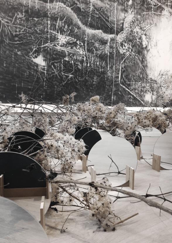 François Réau, vue de l'exposition Les ombres que tu crées n'ont pas droit à la nuit, Eleven Steens mars-avril 2021