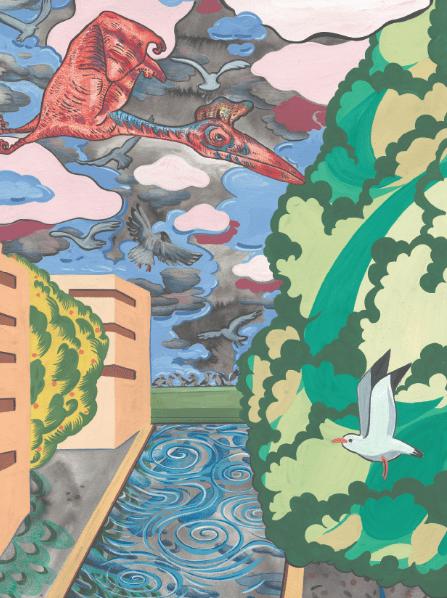 Lamarche-Ovizelon, L'échappée du moa 2021, Affiche abribus