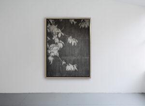 Fabrice Cazenave, The garden of shadows (châtaignier), fusain sur, papier de pierre, 178 x 126 cm, 2020