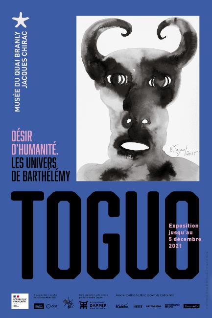 Affiche, DÉSIR D'HUMANITÉ Les univers de Barthélémy Toguo, Musée du Quai Branly Jacques Chirac, Paris, 07 avril -05 déc. 2021