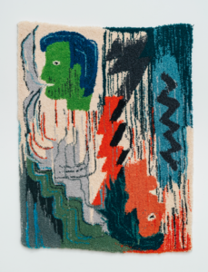 Chloé Dugit-Gros, tapisserie en laine tuftée, 97 x 50 cm