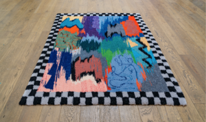 Chloé Dugit-Gros, sans titre, 2021, tapis en laine tuftée, 136 x 167 cm