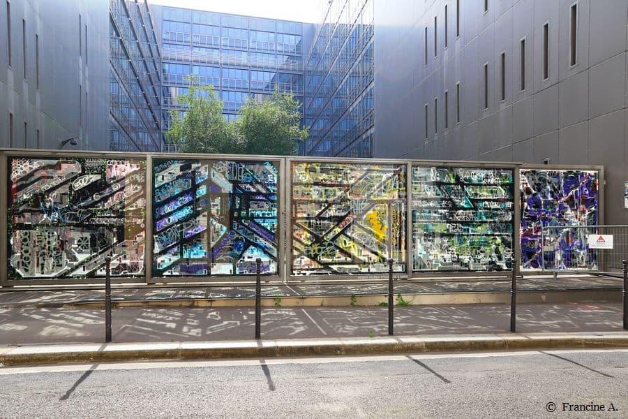 Exposition Oxymores, Lek & Sowat, Jacques Villeglé, O'clock, Rue des Bons Enfants Paris 1er ©Francine A.