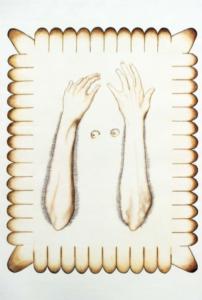Maxime Verdier, Le début de la faim, crayons de couleur sur papier, 95 x 65 cm, 2017