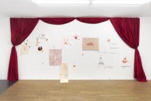Odonchimeg Davaadorj, installation de dessin, exposition personnelle Phusis , Galerie Backslash, 2021