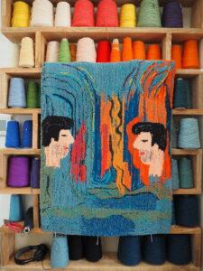 Chloé Dugit-Gros, Les rêves d'Harold, 2021, tapisserie en laine tuftée, 67 x 90 cm