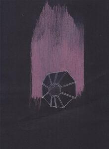 Dalila Dalleas Bouzar, Maison(série), 220X150 cm, crayon sur papier, 2016, © Dalila Dalléas Bouzar ©ADAGP - courtesy galerie Cécile Fakhoury
