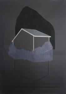 Dalila Dalleas Bouzar, Maison(série), 210X150 cm, crayon sur papier, 2016. © Dalila Dalléas Bouzar ©ADAGP - courtesy galerie Cécile Fakhoury