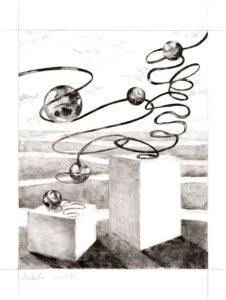 Audrey Matt Aubert, Diabolo menthe, 2020, graphite sur papier, 23 x 18 cm, crédit photo Adrien Thibault