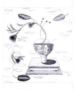 Audrey Matt Aubert, Les anguleuses, 2021, graphite sur papier, 30 x 25 cm, crédit photo Adrien Thibault