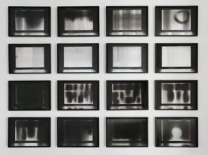 Benjamin L. Aman, A silent flow (présence d'une présence), 2015-2021, graphite sur papier, 32 x 45 cm chacun, ©Nicolas Brasseur