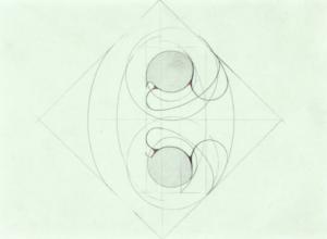 Boris Kurdi, Carrefour, 2020, graphite et crayon de couleur sur papier, 10x13.8cm