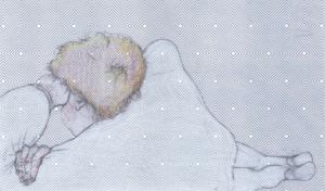 Boris Kurdi, Sans titre, 2019, graphite et crayon de couleur sur papier, 9x15.8cm