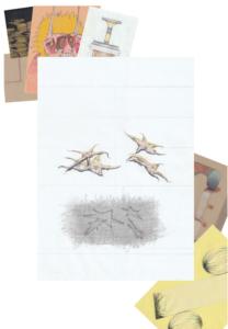 Boris Kurdi, Sans titre, 2020, graphite et crayon de couleur sur papier, 21x29.7cm
