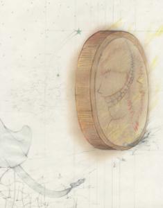 Boris Kurdi, sans titre, 2018, graphite et crayon de couleur sur papier, 30x42cm