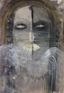 Camille Fischer, SANS TITRE 2019. Techniques mixtes sur papier, 29,7 x 21 cm
