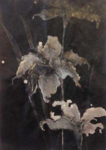 Camille Fischer, SWEET SOFT & VELVET DUST, 2017. Techniques mixtes sur papier, 29,7 x21 cm