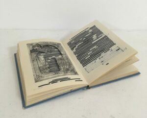 Emily Lazerwitz, The Romance of Canterbury Cathedral, found book, sharpie, 13 x 19 x 2 cm, 2020