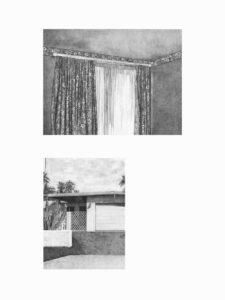 Martinet & Texereau, Fiction 1, 80 x 60 cm, mine graphite sur papier, 2019