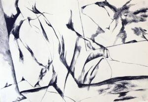 Gabrielle Kourdadzé, Si - mi - sol #, 2021, pastels sur papier, 60 x 42cm