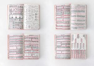 Juliette Green, Carnet de notes de cours, 2016, 13 x 21 cm, 104 pages. ©Juliette Green