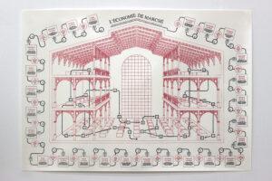 Juliette Green, L'économie de marché, 2019, feutre sur papier Canson, 100 x 70 cm. ©Juliette Green