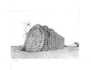 Audrey Matt Aubert, La ruche, 2016, graphite sur papier, 18 x 23 cm
