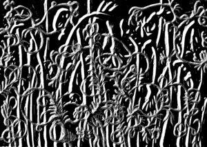 Gaspard Laurent, Lire, 2021, techniques mixtes, 21 x 29,7 cm