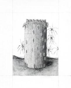 Audrey Matt Aubert, Têtes d'oiseaux, 2016, graphite sur papier, 18 x 15 cm