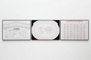 Vue de l'exposition CRUSH aux Beaux-Arts de Paris du 3 au 14 février 2021. Commissariat - Gaël Charbau, Céline Poulain et Xavier Franceschi. ©Juliette Green