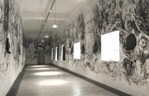 Quentin Spohn, sans titre, fresque à l'Espace d'Art Sainte-Anastasie, acrylique sur mur, 2020