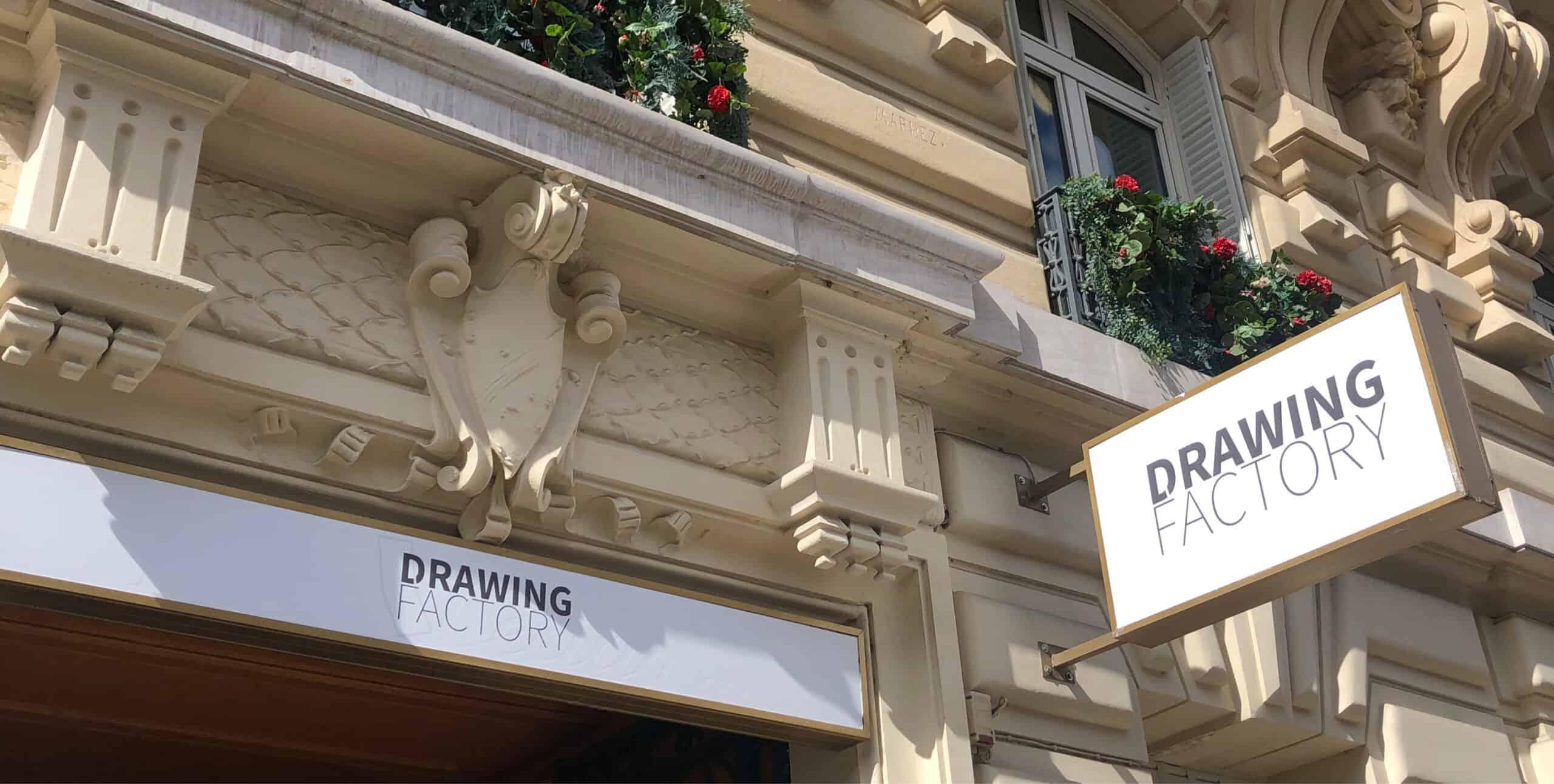 Vue façade DRAWING FACTORY, 11 avenue Mac-Mahon 75008 Paris