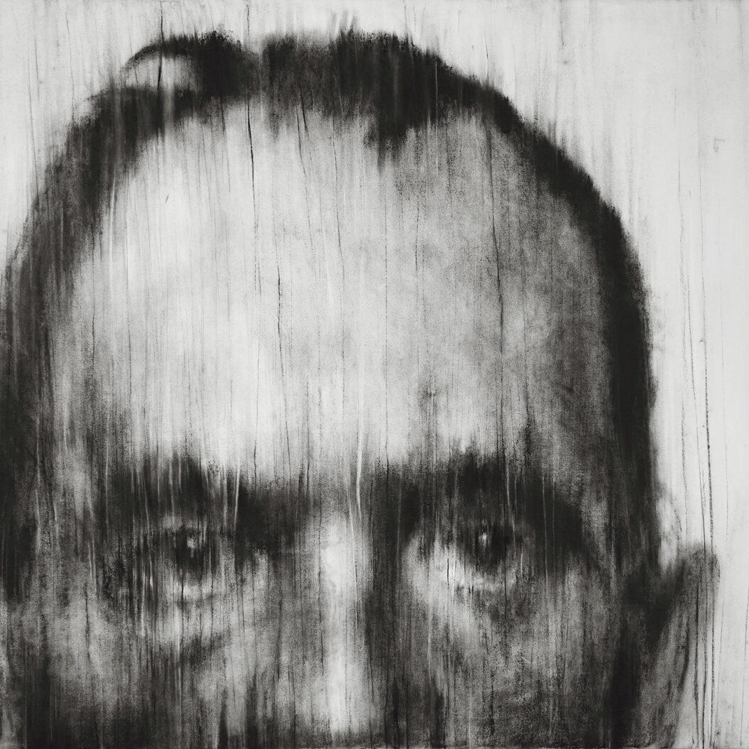 Je ne peux fermer les yeux, Lovis Corinth (2015) - Pierre noire sur papier - 120 x 170 cm
